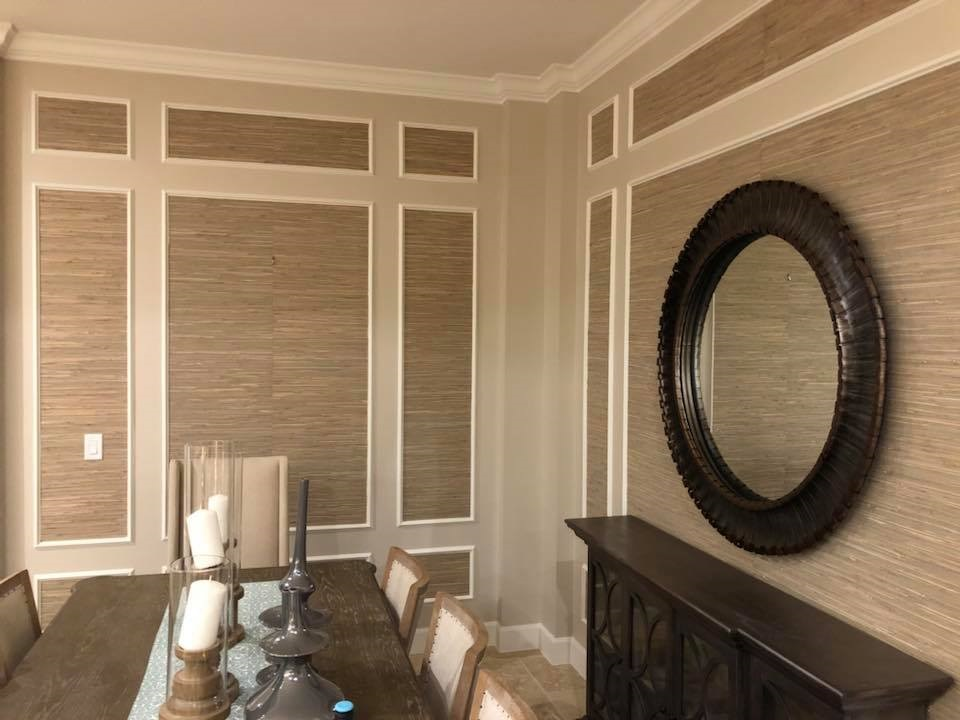 Natural Grasscloth Wallpaper Installation